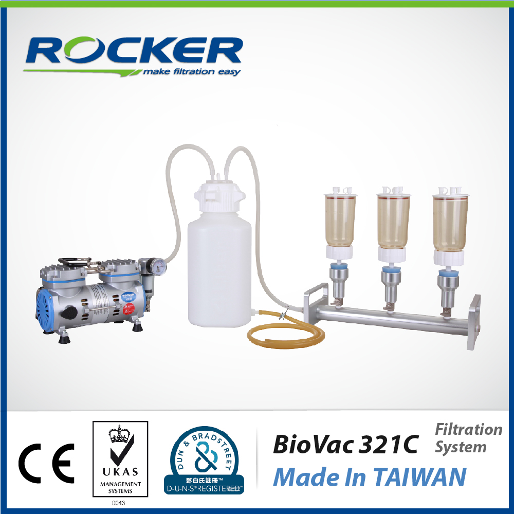 Rocker Scientific 47 mm BioVac 321C Laboratory Equipment Water Filtration System