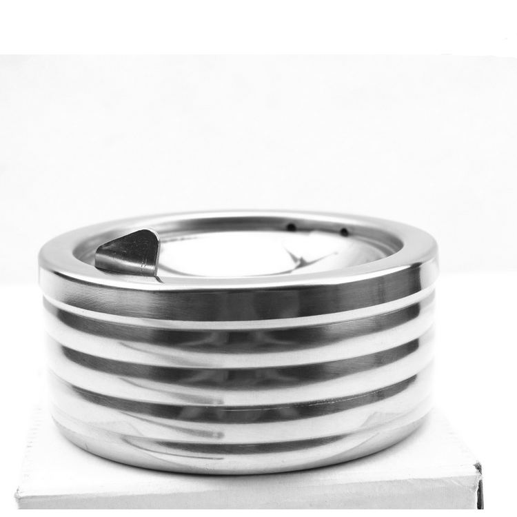 Elegant New design Windproof ashtray / stainless steel metal spinning ashtray