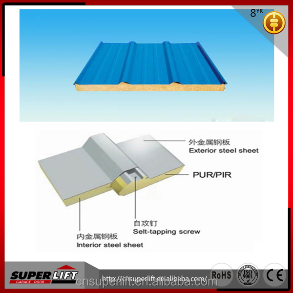 House made of insulated Polyurethane sandwich roof panel