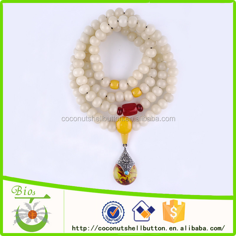 Ancient India Hindu natural beige round bodhi seed prayer beads Jewelry from foreign company