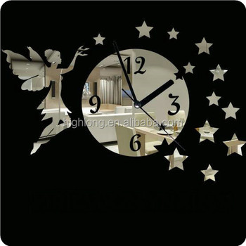 Promotional Electronic Mirror Wall Clock