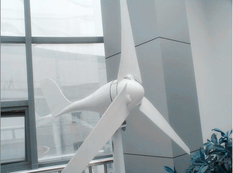 200W 12/24V horizontal axis wind turbine/wind mill/wind generator 3 blades, low start wind speed with RoHS CE ISO9001
