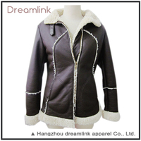 Ladies Jacket Winter Eco-Friendly Super Warm Lamb Wool Jacket