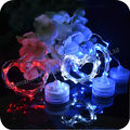 2*CR2032 Batteries Submersible Flower Water Lights With Christmas Wire Lights