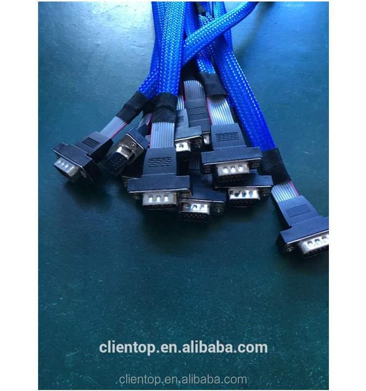 Customized ribbon IDC to VGA/Male VGA cable for motherboard