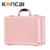 Hot Sale Portable Makeup Case Diamond Pattern Rose Gold Makeup Vanity Case with Lights and Mirror KC-OF01