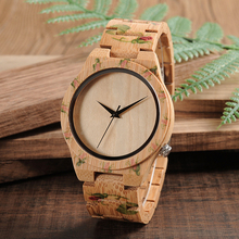 2017 BOBO BIRD Fashion Bamboo Quartz Wristwatches Mens Watches Top Brand Luxury Hour With UV Printing Tattoo Dropshipping OEM