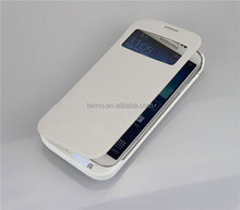 4500mAh Charger power External Backup Battery Leather Case Power bank for Samsung Galaxy S4