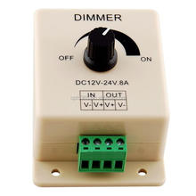 DC12V-24V 8A Touch Panel LED Dimmer for Single Color LED Strip Light Lamp