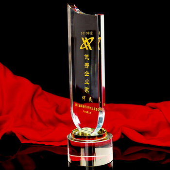 Cheap souvenir and promotion theme trophy crystal for 1