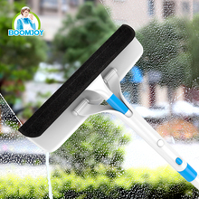 Mutifunctional detachable window squeegee and wiper usable for glass window and screen window