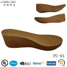 Hot Sale Cork Wood Outsole Lady Cork Outsole Wedge Cork Outsole