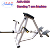 Lying T-bar Row Fitness stretching exercise machine Back Muscle Training t bar rowing machine