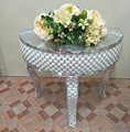 Wholesale Event Polystone Wedding Mosaic Mirrored Centerpieces Table 65*34*60