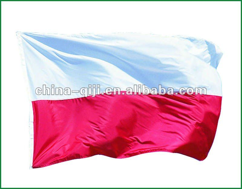 high quality NO.4 flag specification Poland national flag