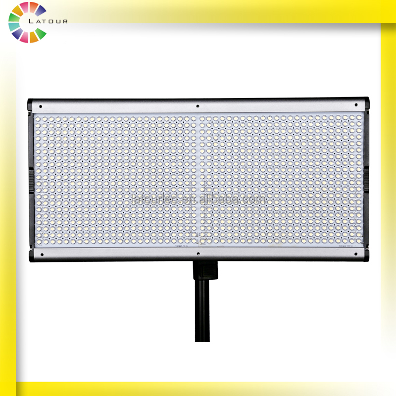 Aluminum alloy slim body 1000 led dimmable photography light video camera led display screen