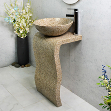 Promotional new arrival cultural granite pedestal sink mold natural stone and water bowl