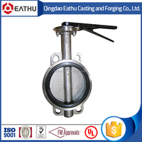 handlever long stem wafer butterfly valve