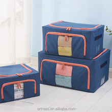 2018 wholesale high quality cube foldable fabric storage box
