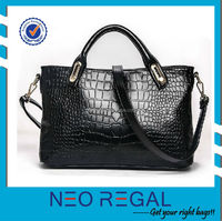 Fashional cute black ladies leather hang bag