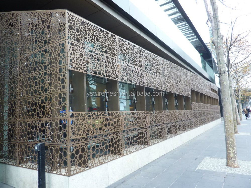 Metal Architectural Screen Wall : Various design of perforated wall panel slotted mesh