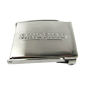 Customized logo metal blank letter belt buckle