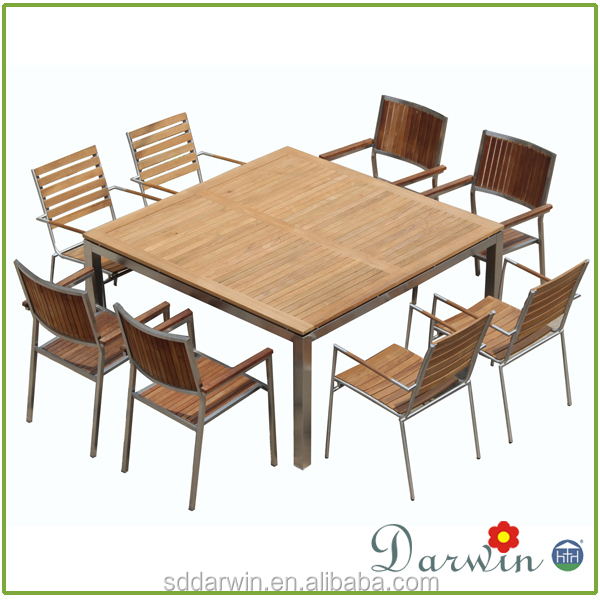 outdoor wood dining table and chair sets furniture SV-1883