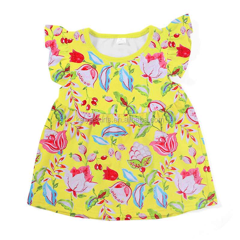 2017 latest new model children clothes printed fashionable shirts for girls