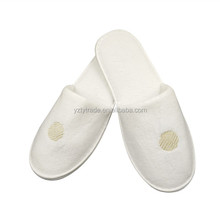 Cheap disposable washable velvet hotel slippers eva closed terry slippers