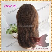 22inch #6 layer style human hair jewish wig with virgin human hair 100% european human hair kosher wig