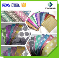 Plastic Packaging Material PP Glitter Film for boxes/shoes/clothes/bags