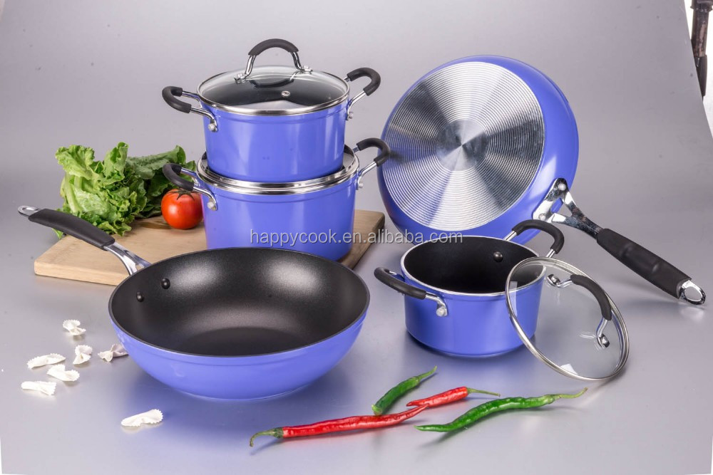 Forged aluminium best cookware sets kitchen