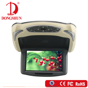 9inch retractable motorized car roof dvd monitor with av input