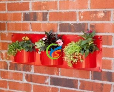 Galvanized metal decorative wall planters