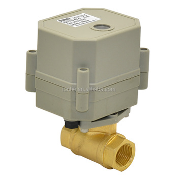 OEM 3/8'' 2-way brass ball motorized water control valves AC110-230V
