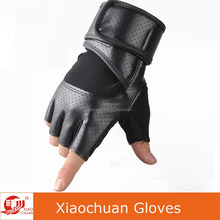 Wholesale Half Finger PU Leather Gym Gloves