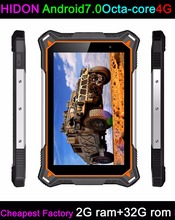 HIDON 8 inch Rugged Tablets Android7.0 OS 4G LTE 2G/3G ram+32G rom WIFI BT GPS 10000mAh Battery IP68 Battery NFC Tablets