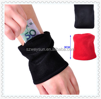 New Wristband Pouch Running Wallet Fleece Zipper Key Coin Money Case Pocket Storage Handbag for Unisex Travel Outdoor Sports Gym