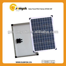 cheap price high quality poly solar panel 30w 12v solar cell