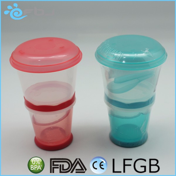 daily use plastic container bpa free yogurt