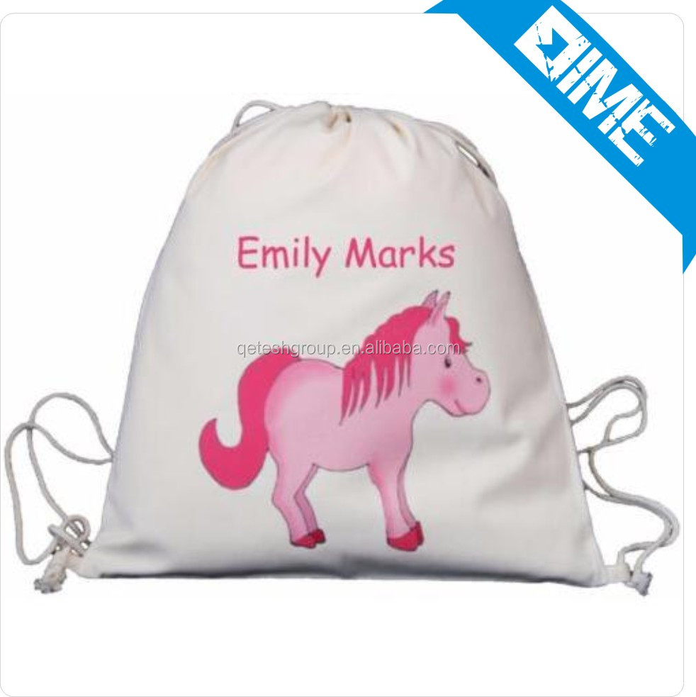 Best SellingDrawstring Bag Backpack In China Market Eco -friend Organic Cotton High Quality Tote Cotton Bag