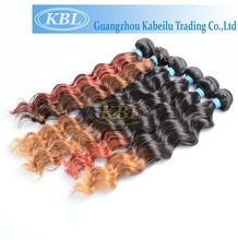 Whoelsale raw 3 tone color ombre hair