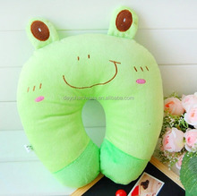 Funny cute design Polyester Cotton Neck Pillow, Cooling Air-plane kieds U-shape Inflatable Travel Pillow
