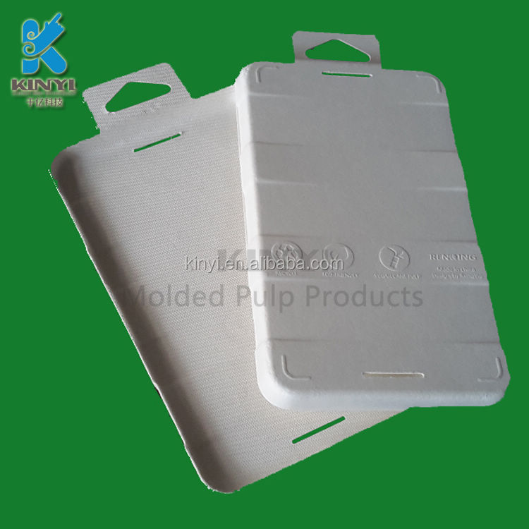 2017 popular consumer electronic inner packaging inserts, containers, bagasse pulp molded