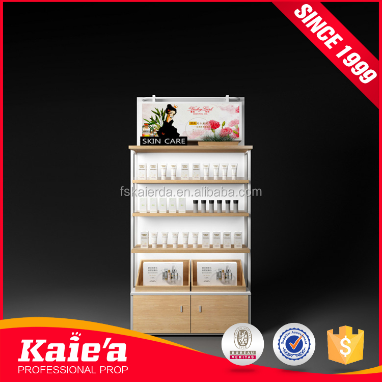 Simple design table mounted skincare products display racks cosmetic stand