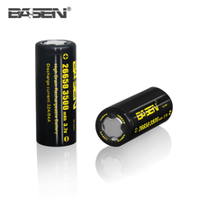 High discharge BASEN 26650 3500mah 3.7v rechargeable li-ion coin battery cell 64A for EV