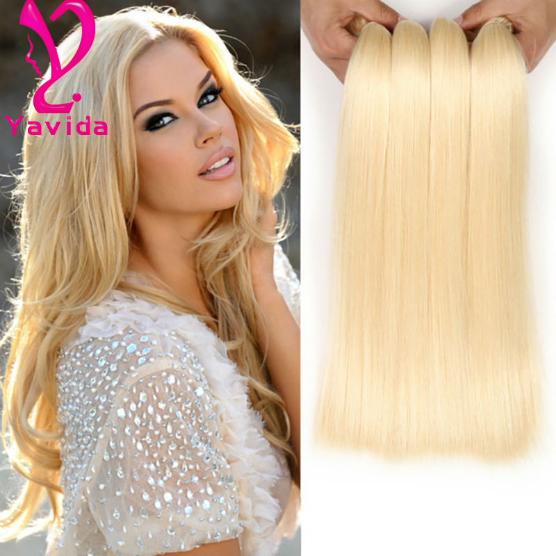 White Women Favorite Grade Blonde Brazilian Hair Bundles Brazilian
