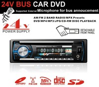 KD-8230 24V BUS CAR DVD With microphone function for bus annoucement DETACHABLE PANEL ONE DIN USB SD CD CAR DVD RADIO PLAYER