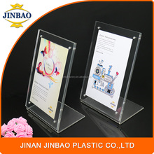 JINBAO high transparent strong magnet L shape acrylic place card holders