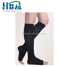 Open Toe Medical Grade Compression Stockings for Varicose Veins and Spider Veins